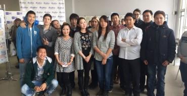 Обучающиеся  11д класса  приняли участие в  презентации новой марки с изображением первого самолета Якутии