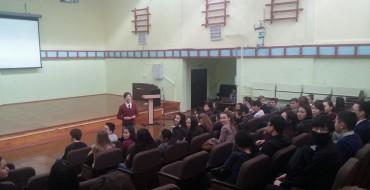 17 февраля в школе №33 им. Л. А. Колосовой традиционно прошла встреча с представителем  ВШЭ