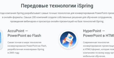 iSpring – Инструменты для электронного обучения