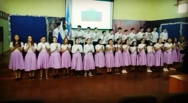 Ежегодный Фестиваль «Каждый класс-хор». 7 классы – тема «Песни о Родине».