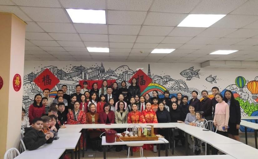 25го января ребята, изучающие китайский язык в 5х и 6х классах нашей школы, посетили мероприятие посвящённое началу празднования китайского нового года