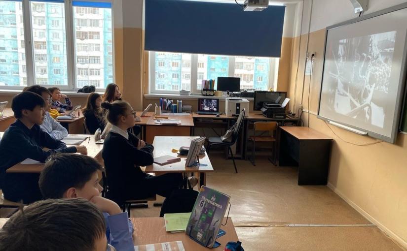 """В рамках Всероссийской акции """"Уроки памяти"""" (27.01.2020) в 6 «а» классе провели урок памяти """"Блокадный хлеб"""" #блокадныйхлеб"""